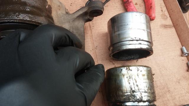 Repairing brake calipers