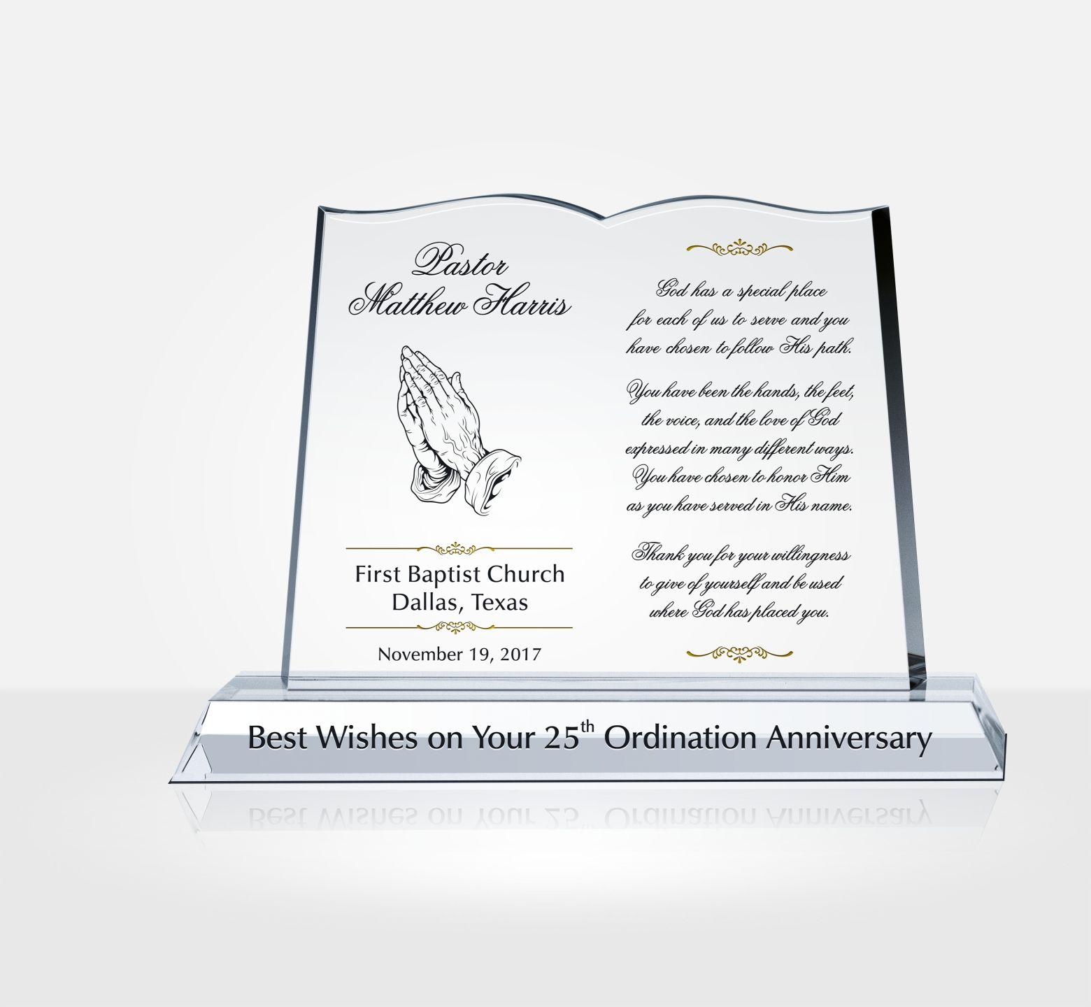 Pastor Anniversary Tributes And Sample Wordings DIY Awards
