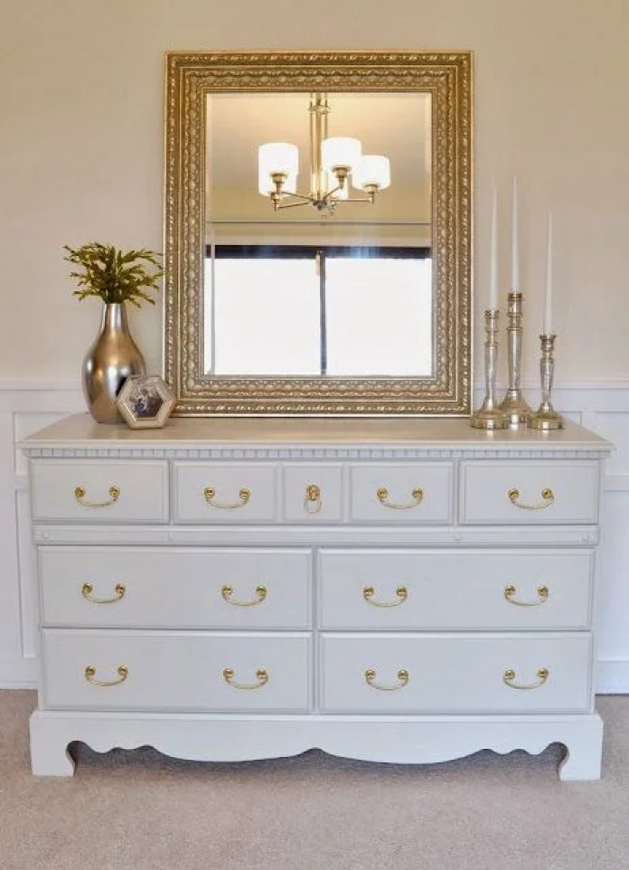 tropical painting furniture diy white gold