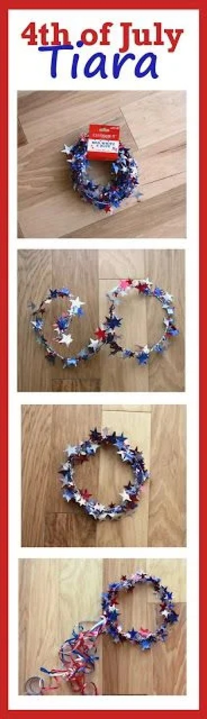 This Fourth of July tiara DIY is so CUTE! I love how easy it is to make too!