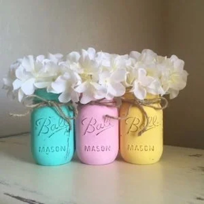 Mason Jar Easter Home Decor Idea