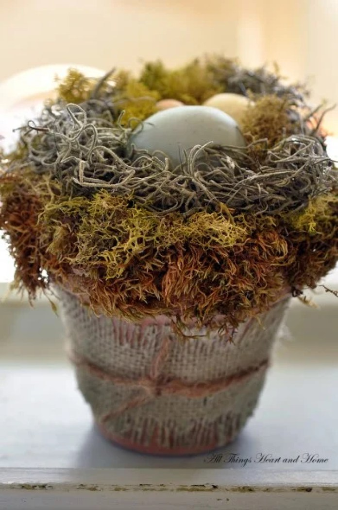 Cozy Egg Nest for Easter DIY