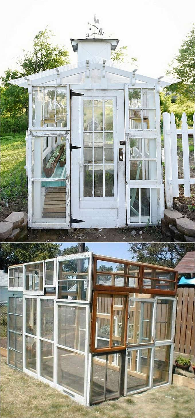 DIY Greenhouse From Recycled Old Windows