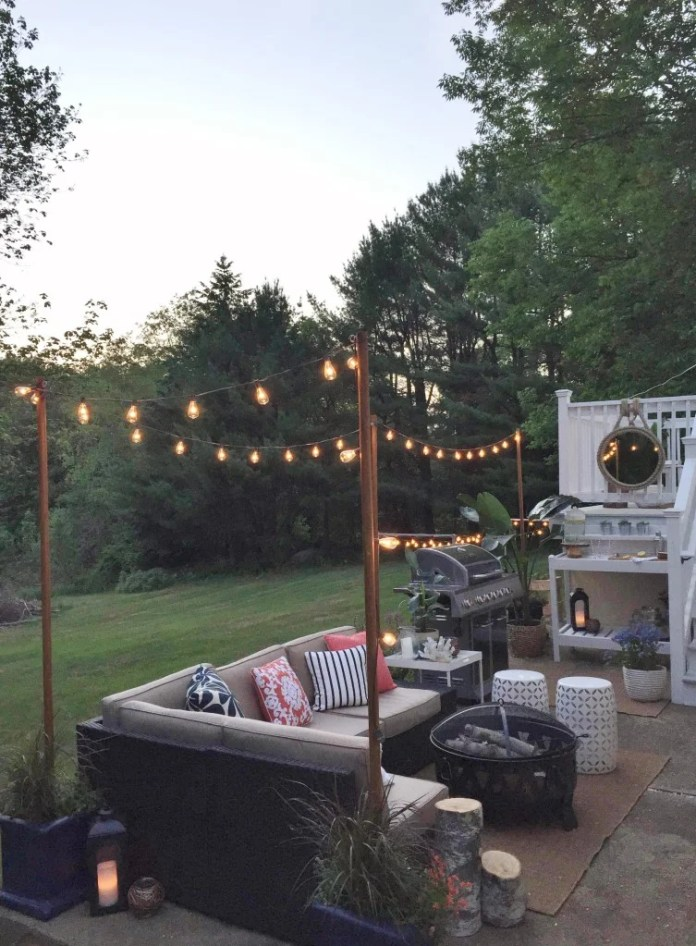 DIY Outdoor Light Poles