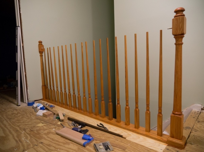 Replacing Newel Post Carpentry Diy Chatroom Home Improvement Forum   Attaching Handrail To Newel Post   Bolt   Fine Homebuilding   Stair Treads   Wood   Baluster