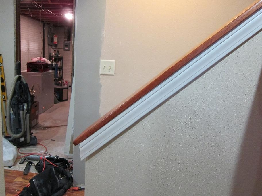 Help Trimming Out Half Wall Railing Remodeling Diy Chatroom   Half Wall Staircase Design   Railing   Limited Space Small Stair   Kitchen   Closed   Contemporary
