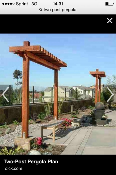 Securing A Two Post Pergola Landscaping Amp Lawn Care