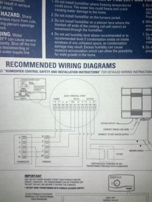 Aprilaire 700 Wiring Help  HVAC  DIY Chatroom Home