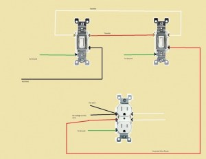 Two 3Way Switches Controlling One HalfOutlet  Electrical  DIY Chatroom Home Improvement Forum