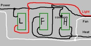 Wiring Three Switches For A Bathroom Exhaust Fan, Light