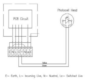 Photocell Sensor To Control Several Lighting Circuits
