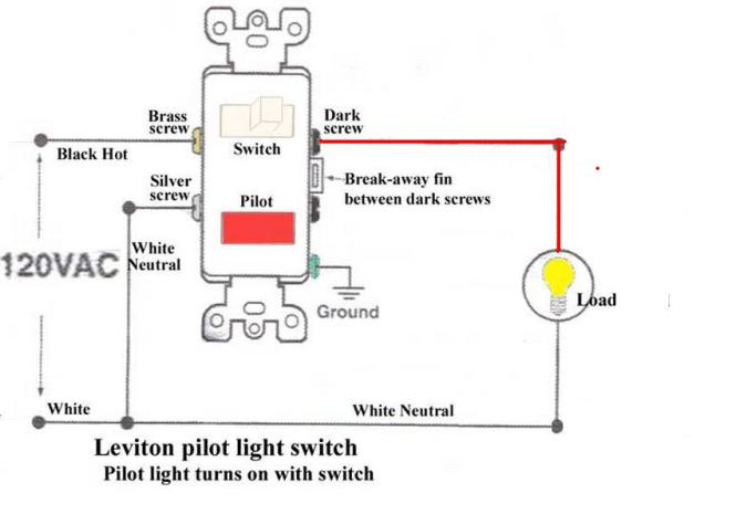 pilot light switch wiring diagram pilot image wiring diagram for single pole switch pilot light wiring on pilot light switch wiring diagram