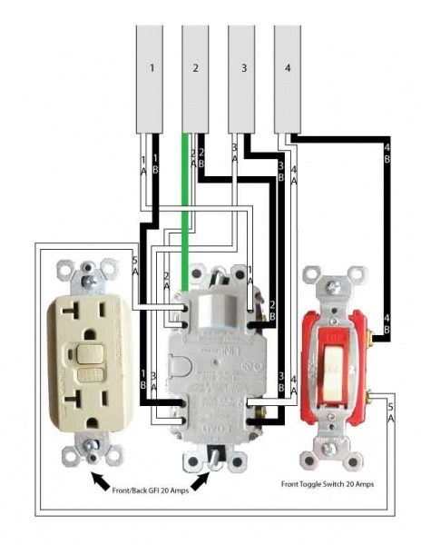 wiring multiple gfci outlets wiring image wiring wiring multiple gfci outlets wiring auto wiring diagram schematic on wiring multiple gfci outlets