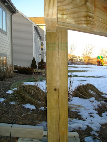 Reinforcing 6x6 Pressure Treated Deck Posts Building
