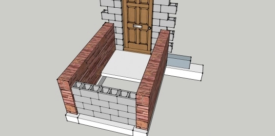 Need To Rebuild Outside Steps And Walls Coming From Basement | Outside Steps For House | Front Door | Entryway | Decorative | Ranch Style House | Beautiful