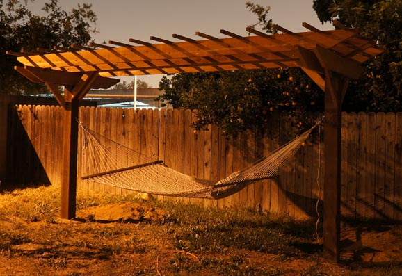 Two Post Freestanding Pergola Finished Building