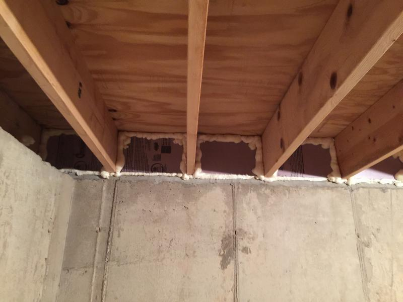Rigid Foam Rim Joist How Does This Look General DIY Discussions DIY Chatroom Home