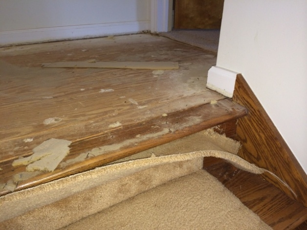 Switching From Carpet To Hardwood On Stairs Flooring Diy | Carpeted Stairs To Hardwood | Diy | Hardwood Flooring | Middle | Old House | Staircase