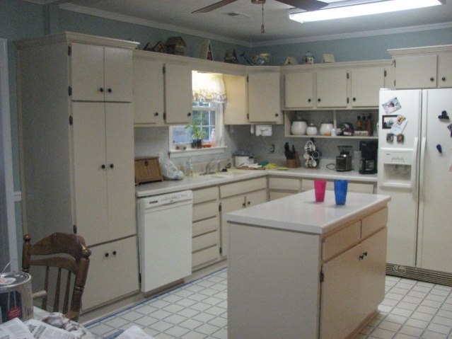 Painting Kitchen Cabinets Back Wall Interior Decorating