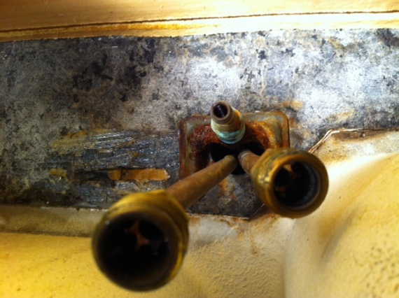 trouble removing old kitchen faucet