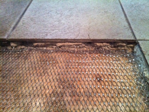 replacing tiles over old thick mortar