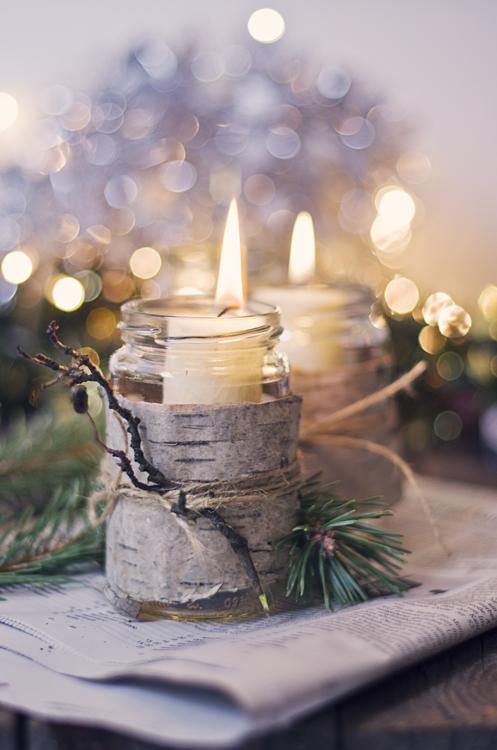 DIY Christmas Candles