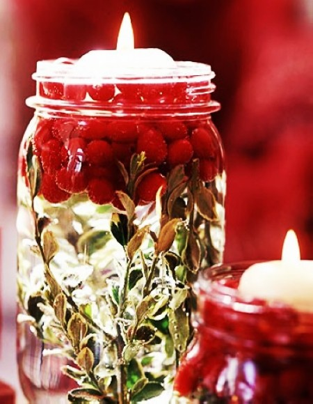 chic christmas candle jars 2013 christmas table decors christmas decor ideas-f08078