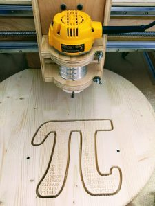 Pi Shape Cutout on Router Table