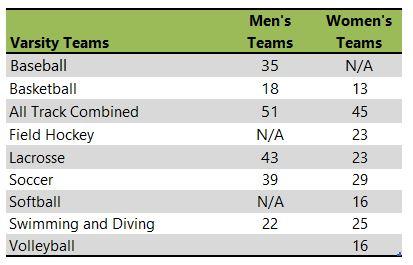 Keene State College athletic team listing