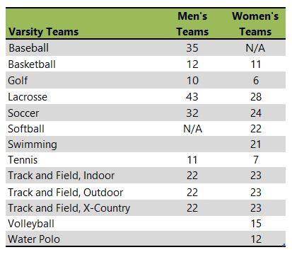 Siena College athletic team listing
