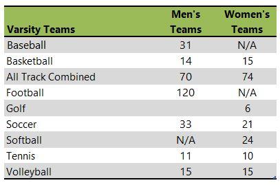 Geneva College athletic team listing