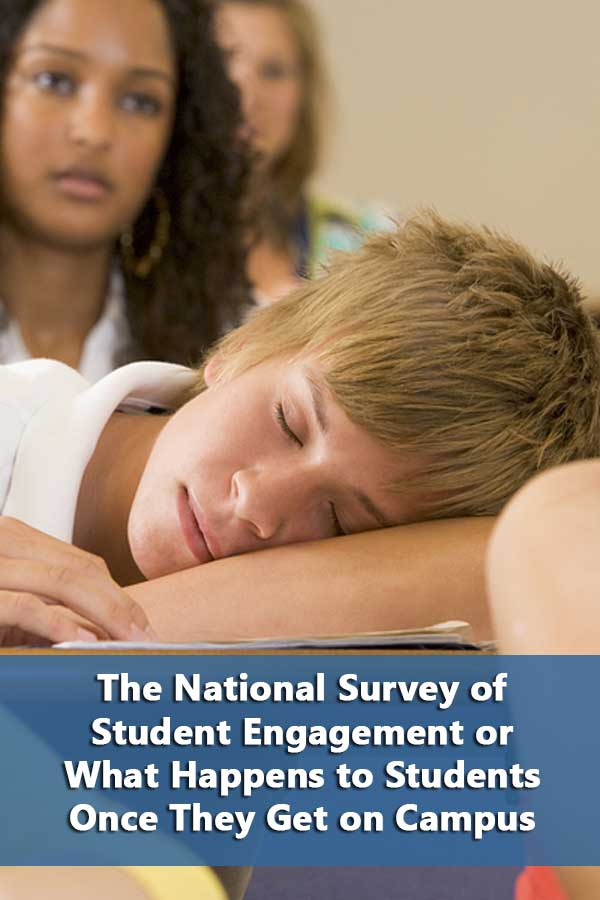 The value of the National Survey of Student Engagement (NSSE) in looking for a college.
