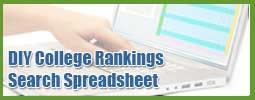 DIY College Rankings Spreadsheet