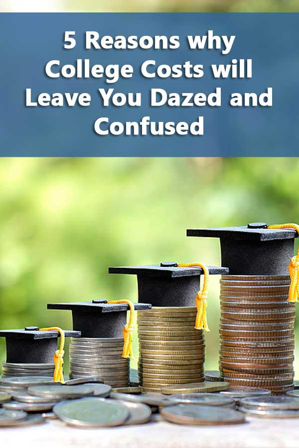 5 Reasons why College Costs will Leave you Dazed and Confused