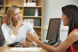 Counselor representing free college counseling