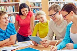 students researching how to study for free in Germany