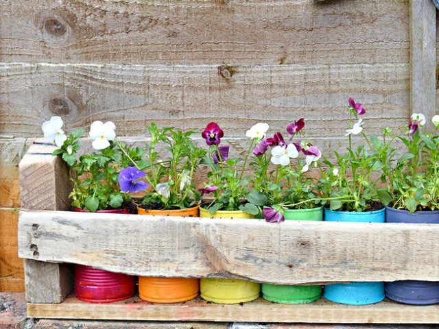 Empty Paint Can Planters DIY