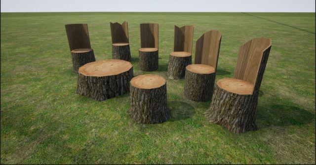 turn-tree-stump-into-chair