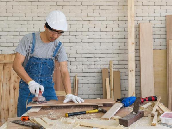 plywood sanding