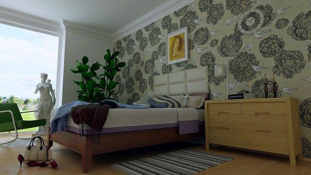 Install Wallpaper Bedroom