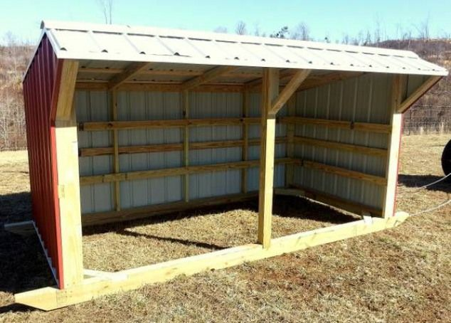3 Sided DIY Horse Shelter