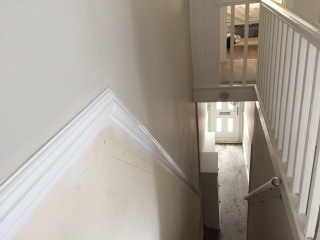 Decorating an hall landing stairs with a difference diy - How to wallpaper stairs and landing ...