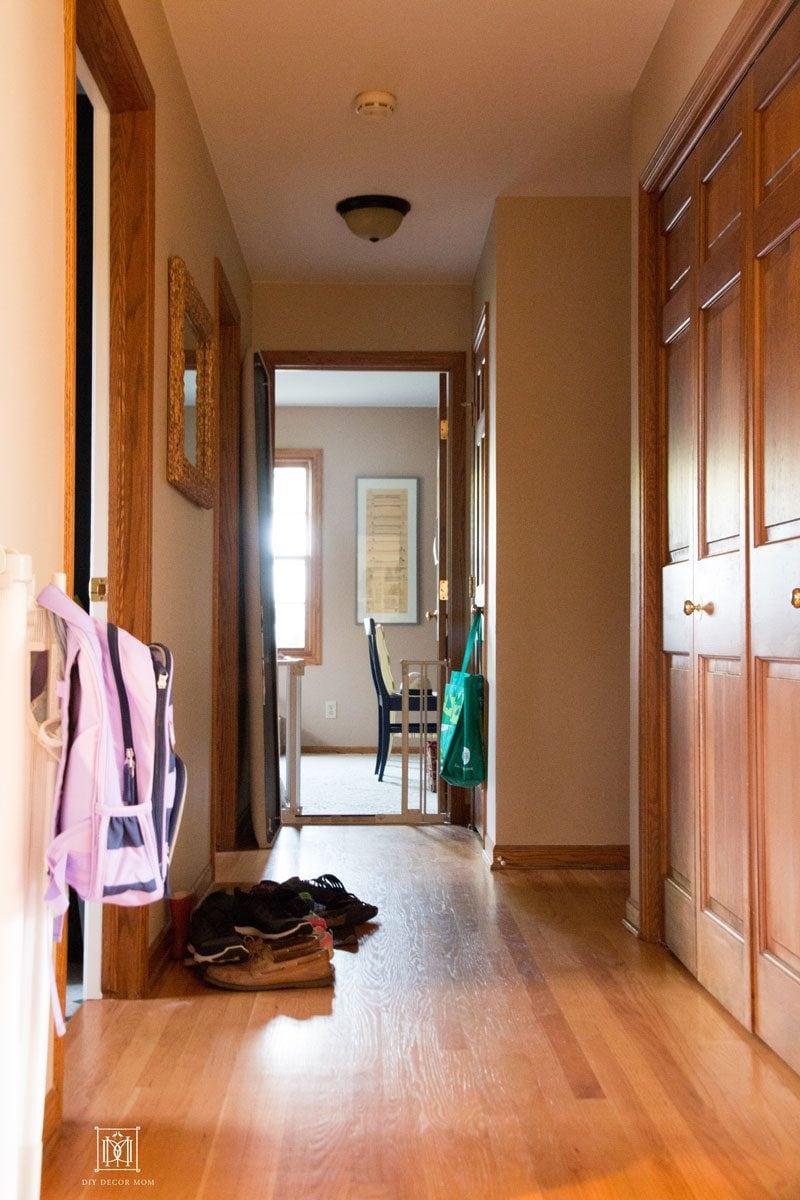 Small Entryway Mudroom Narrow Hallway Mudroom Makeover