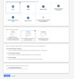 Google remarketing settings