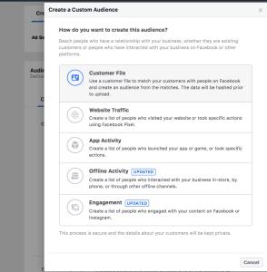 Facebook Customer Targeting