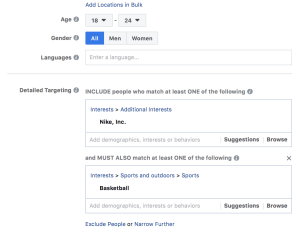 Facebook Layered Audiences