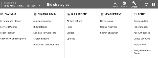 Google shared library bidding strategies
