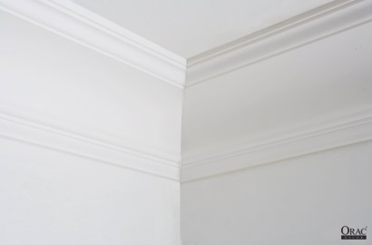 Finished internal corner in coving