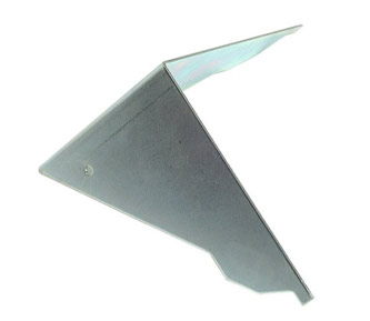 Metal guide for cutting coving mitre joints