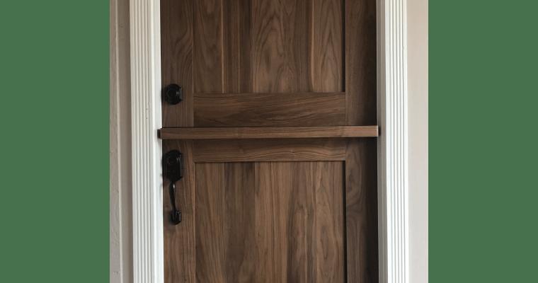"""Building our Walnut Dutch Door (or """"DIY Door-ty"""")"""